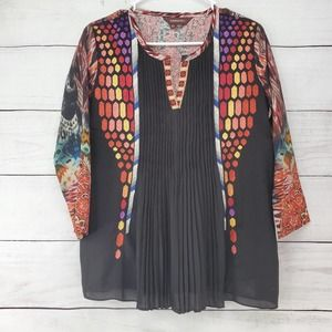 Anthropologie Ranna Gill Embroider Boho Blouse